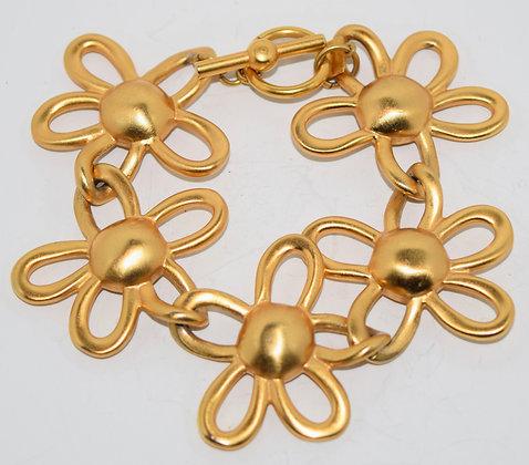 Vintage Anne Klein Floral Design Costume Bracelet