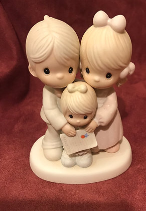 Precious Moments Figurine God Bless The Day We Found You