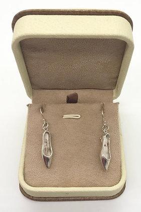 Ladies Shoes Silver Earrings