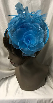 Round Shape Fancy Teal Floral with Feathers Design Fascinato