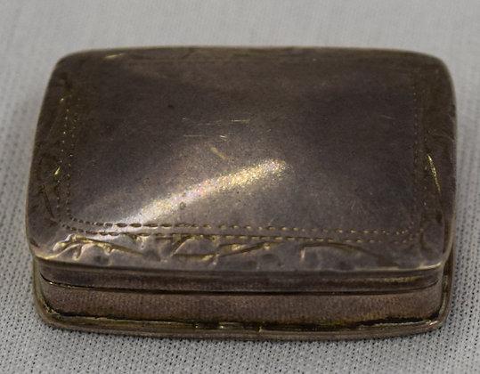 Antique Silver Miniature Pill Box