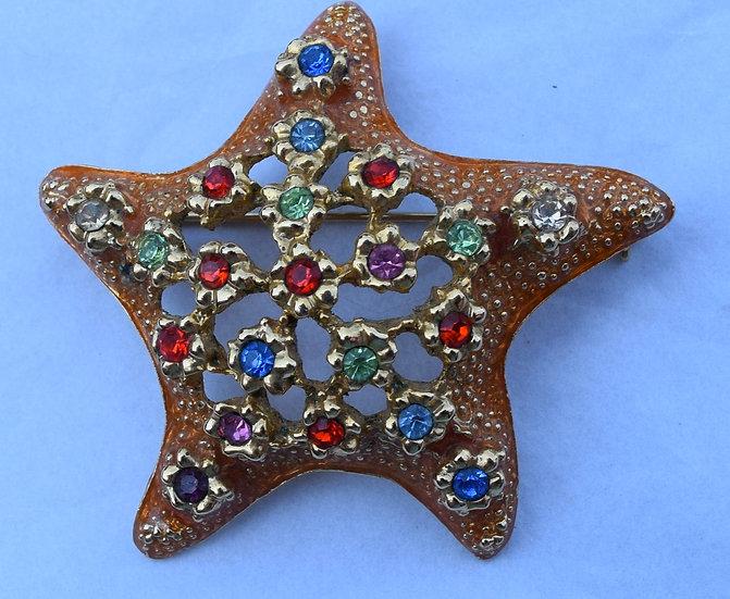 Vintage Ivana Star Fish Brooch Pin & Pendant