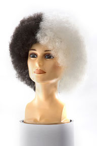 Black and White Afro Wig
