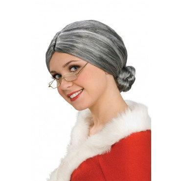 Mrs. Santa Grey Theatrical Wig