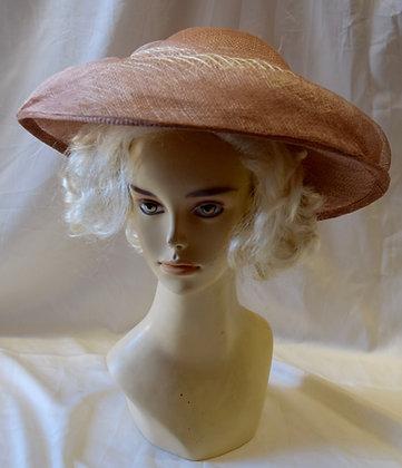 Blush & Ivory Fancy Derby Hat