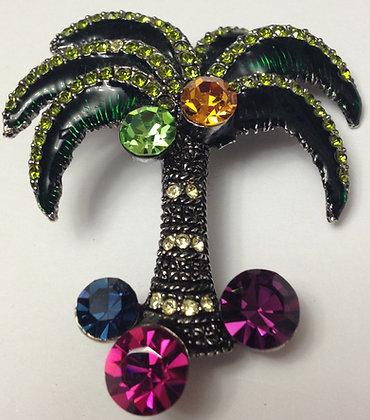 Palm Tree Brooch Pin