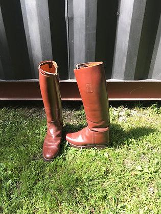 Vintage Men's Brown Leather Riding Boots Size 9 1/2 E