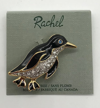 Penguin Brooch Pin Designed By Rachel