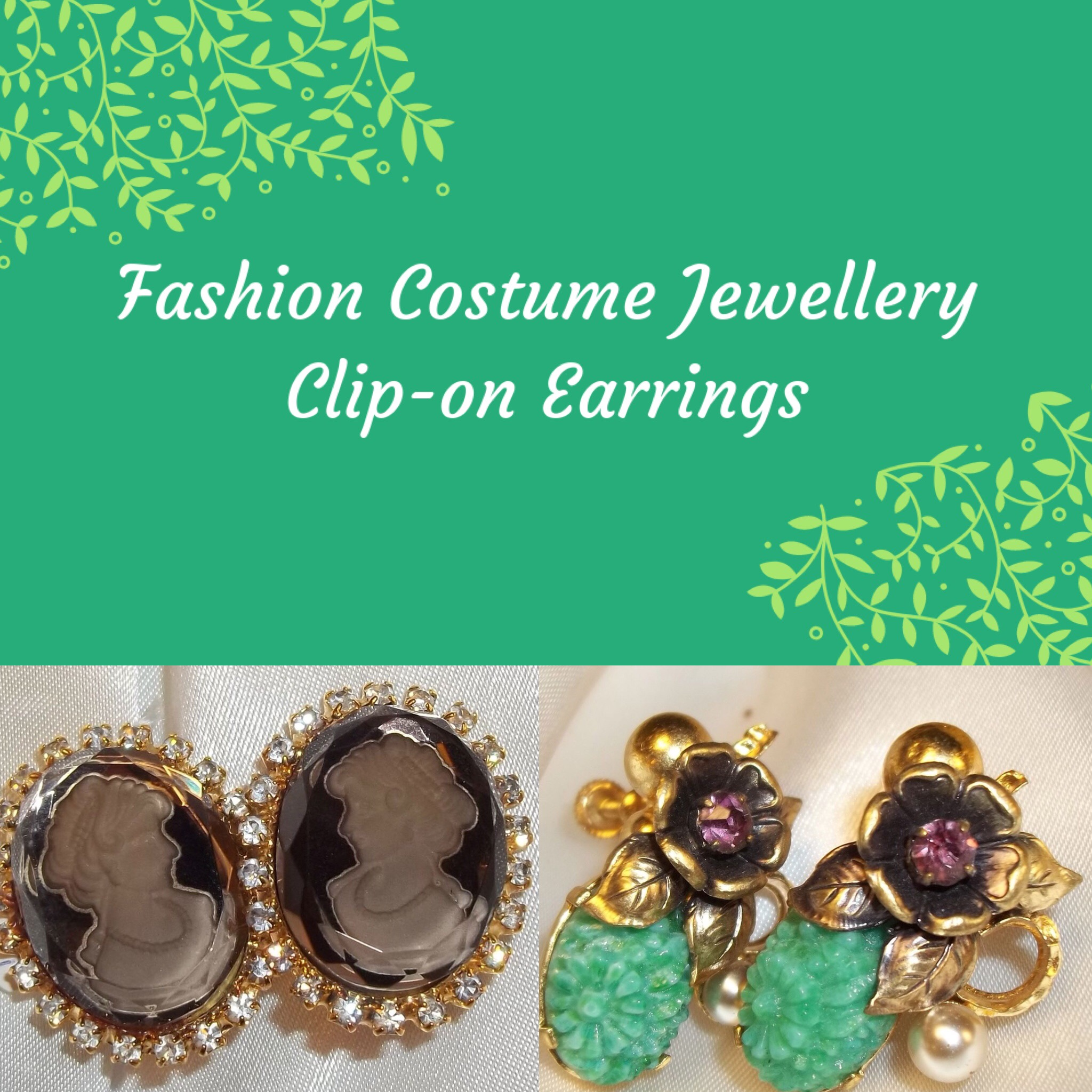 Fashion Costume Clip On Earrings