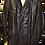 Men's Vintage Leather Black Coat