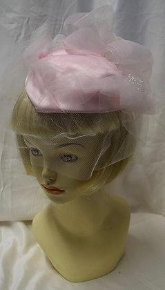Vintage Baby Pink Fancy Summer Hat