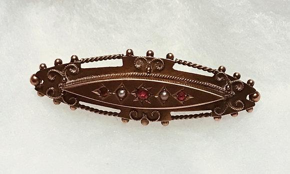 Antique 375 9k Hallmarked C & Co Brooch Pin