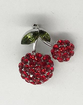 Miniature Cherry Brooch Pin