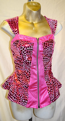 Adult Vintage Kelle Pink Dancewear Top Medium