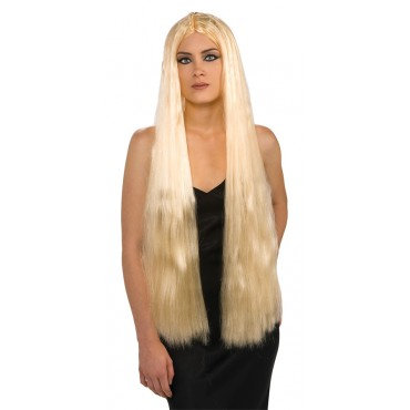 "36"" Long Witch Theatrical Wig Blonde"