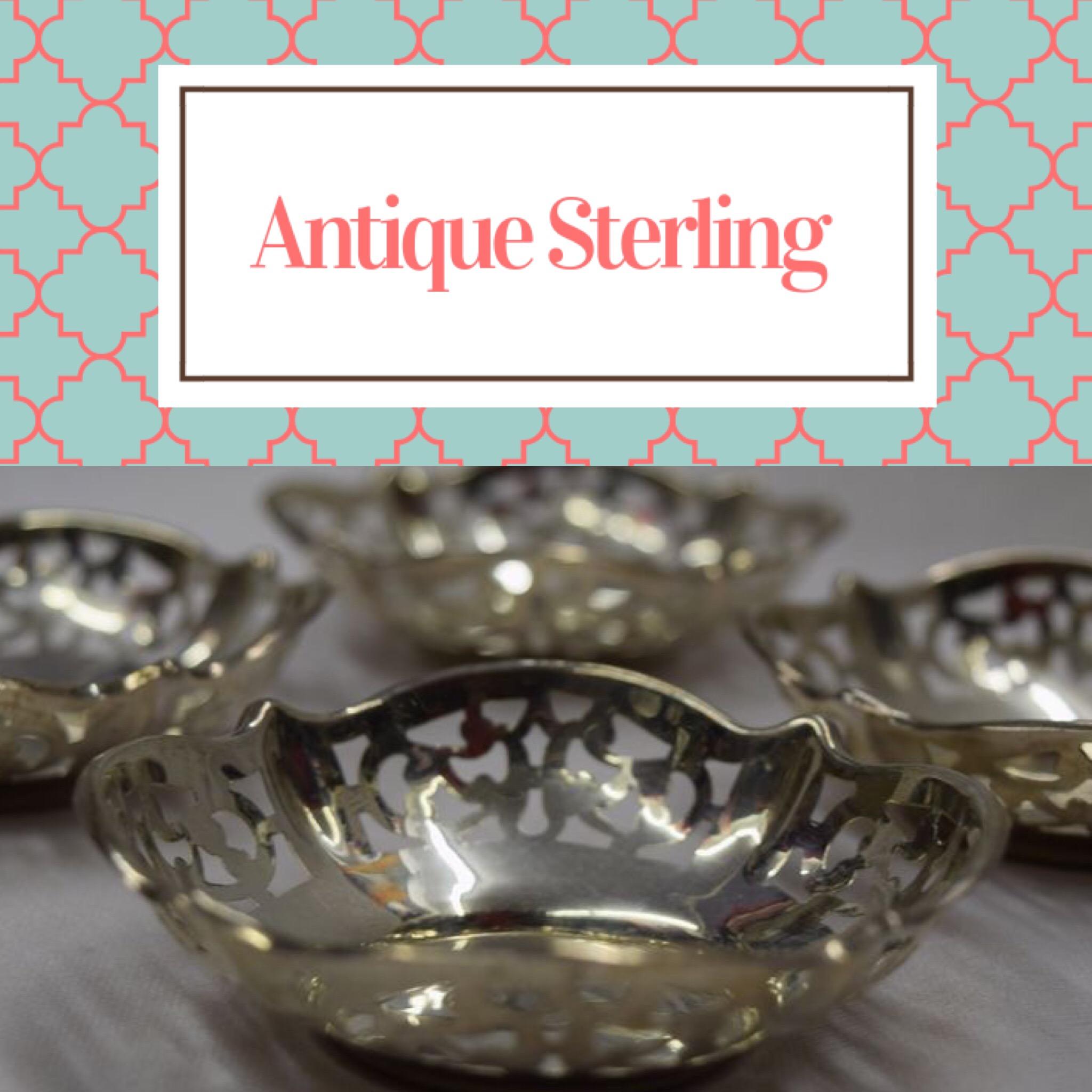 Antique Sterling Dishware