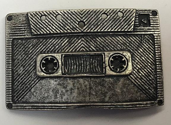 Vintage Cassette Tape Belt Buckle