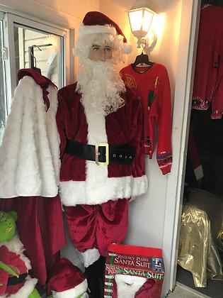Standard Size Regency Plush Santa Suit - Size 40-48