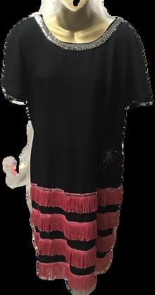 Vintage Black and Pink Flapper Dress