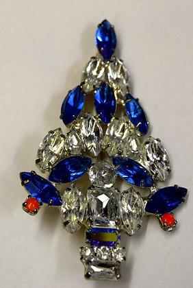 Signed Vintage Christmas Tree Brooch Pin