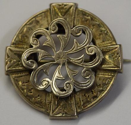 Vintage Celtic Silver Brooch Pin