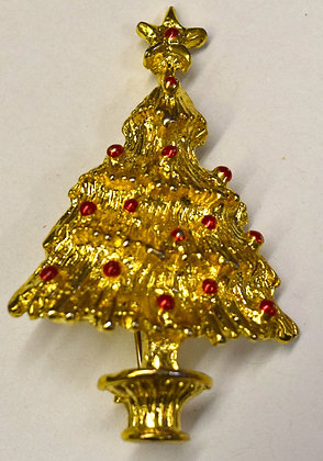 Vintage Christmas Tree Brooch Pin