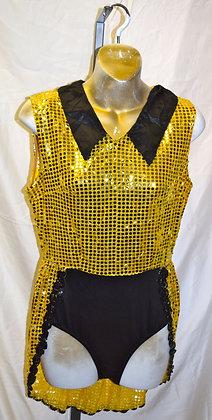 Adult Vintage Dancewear Gold Sequin Medium