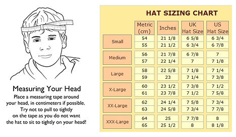 Hat Sizzing Chart