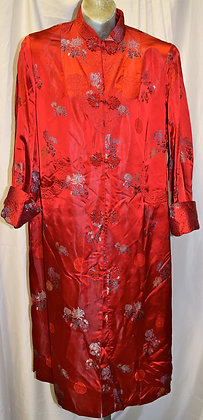 Vintage 3/4 Cut Traditional Chinese Jacket Red A004