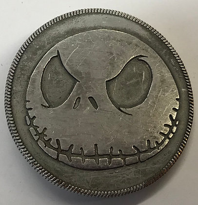 Jack the Skellington Pewter Colour Finish Belt Buckle
