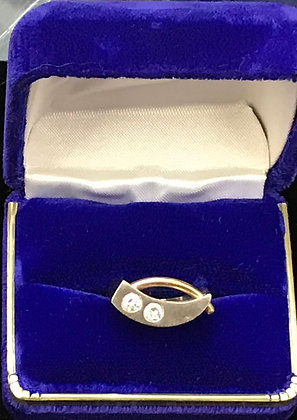 14K Gold Art Deco Style with Diamonds Ring