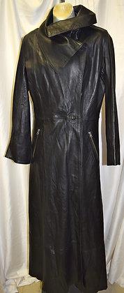 Women's Vintage Yes Virginia Floor Length Leather Coat