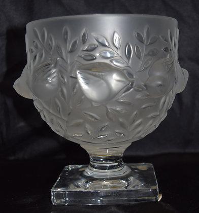 Lalique R France Elizabeth Crysal Vase