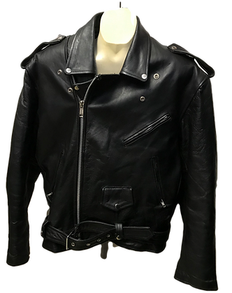 Vintage Real Leather Men's Classic Motorcycle Leather Jacket