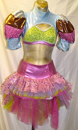 Vintage Effie Mathews Dancewear Two Piece Small