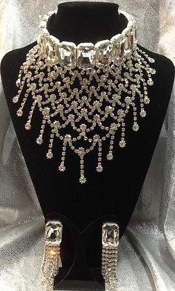 Czechoslovakia Crystal Necklace Set