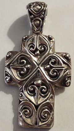 Vintage 925 Silver Celtic Cross Pendant