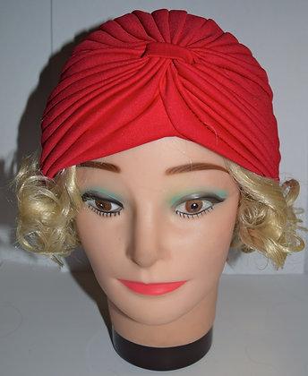 1920's Flapper Head Cap Red