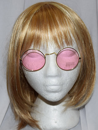Pink Tinted Hippie Costume Glasses