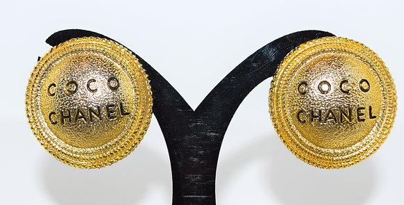 Vintage Coco Chanel Clip 0n Earrings
