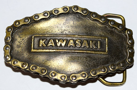 Vintage Kawasaki Belt Buckle