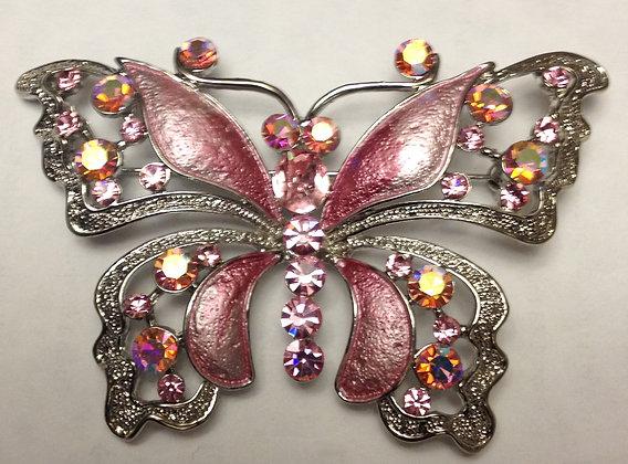 Butterfly Brooch Pink