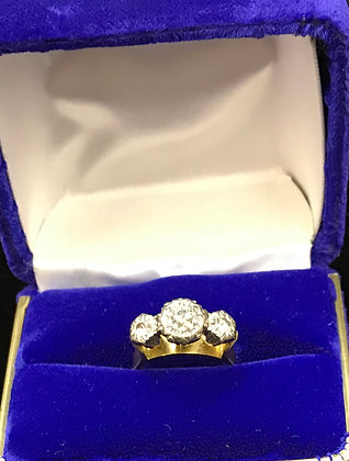 18K Gold Custom Made with Diamonds Ring