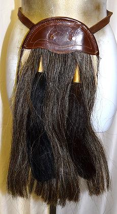 Vintage Scottish Leather & Horsehair Sporran