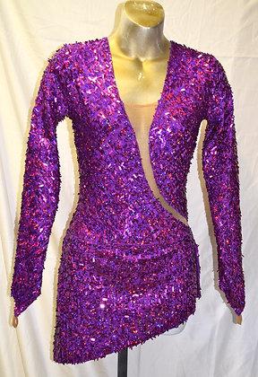 Adult Vintage Sequin Purple Dancewear Small/Medium