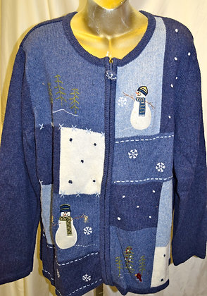 Vintage Snowman Christmas Sweater XL
