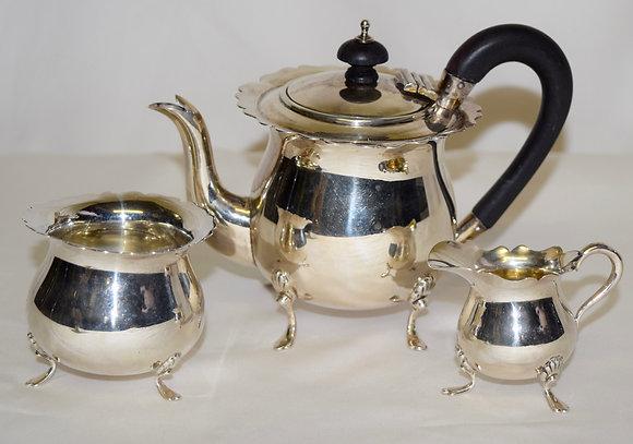 Antique Martin Hall & Co. Sterling Hallmark Tea Set