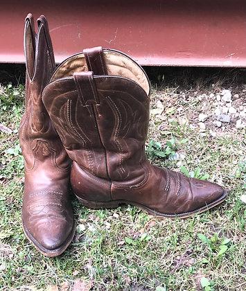 Vintage Boulet Men's Brown Western Boots Size 8