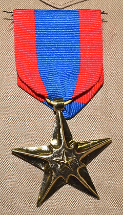 Star with Ribbon Metal Pin