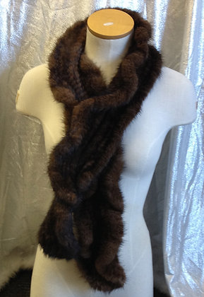 Sheared Knitted Mink Fur Scarf